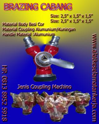 BRAZING CABANG, Y CONNECTION, BRAZING COUPLING , Aneka Brazing