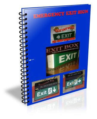 Emergency exit box,exit sign, exit box