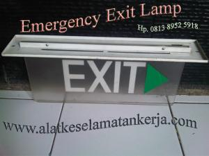 EMERGENCY EXIT SLIM I DOUBLE FACE