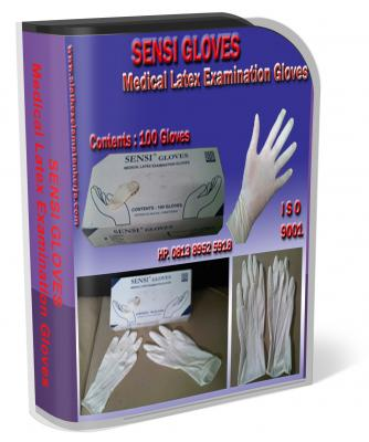 glove latex, Medical Latex Examination Gloves, Sensi Gloves