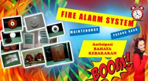 jasa instalasi maintenance fire alarm system,Maintenance Alarm System, Perbaikan alarm system,fire alarm system, alarm bell, master control panel alarm, manual break glass, indicating lamp, smoke detector, conventional system, addresable system, instalasi