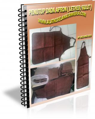 apron kulit, leather apron, penutup dada leather, safety leather apron