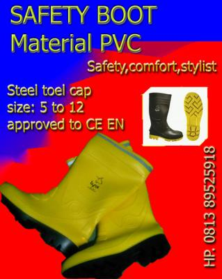 SAFETY BOOT PVC, SEPATU BOOT PVC, SAFETY SHOES BOOT, RUBBER BOOT