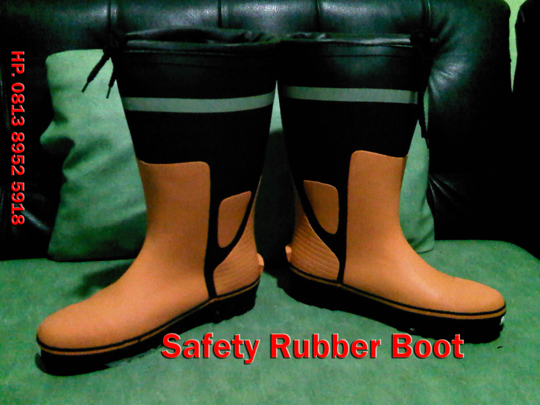 Safety Rubber boot, rubber shoes, sepatu karet safety
